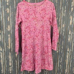 Lands End Girls Sz XL 16 Knit Dress Pink Butterfly